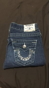 blue True Religion jeans Surrey, V3T 2C1