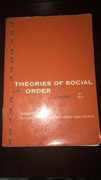 Theories of  Social Order Springfield, 01118