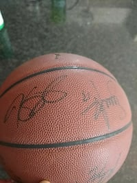 Authographed golden state warriors ball.