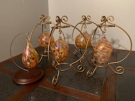 Blown glass decorative balls