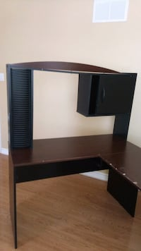 black wooden TV stand with mount Mississauga, L5R 2M5