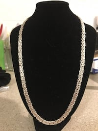 925 sterling silver 20 in. Byzantine chain necklace - PICK UP ONLY Dayton, 45405