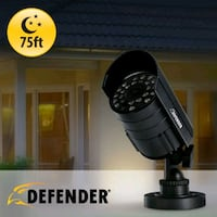 Security Camera, up to 75ft night vision (never used). Make=Defender