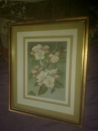 Vintage,,flower painting signed by de palma Lake Worth, 33463