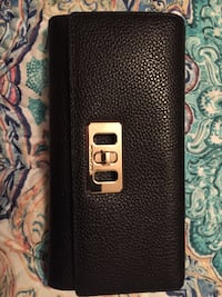 black and brown leather wallet null