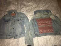 Women's Levi and American eagle jean jackets