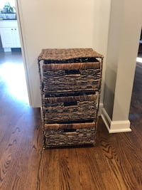 3 drawer wicker shelving unit Denver, 80210