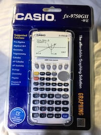 SEALED NEW! Casio fx-9750GII Graphing Calculator, White/Blue Vienna, 22182