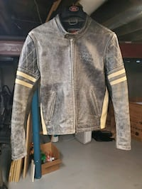 Royal Enfield leather motorcycle jacket