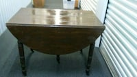 brown wooden drop leaf table Long Beach