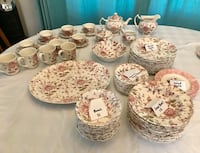 Johnson Brothers porcelain China. Rose Chintz pattern. Orlando, 32807
