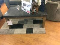rectangular black wooden coffee table Shirley, 11967
