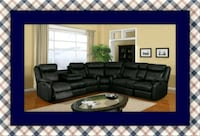 Cshape sectional black leather free shipping Pikesville