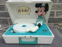 Vintage Mickey Mouse record player Ajax, L1S 5G1