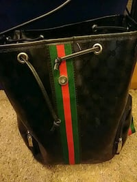 black and green leather bag Chandler, 85225