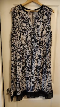 Black & Purple summer dress from Marks, 2XL with P New Westminster