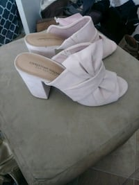 Pretty light pink suede heel sz 9 shoes