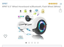 Hoverboard w/Bluetooth, Flash Wheel (White)