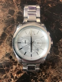 Armani Excuange chronograph watch with silver link bracelet Bayonne, 07002