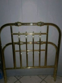 Brass and porcelain single bed frame  Calgary
