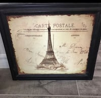 Beautiful Paris painting. Elegant home decor can be used also as vintage decor. Paid $50 for it willing to let it go for 30 obo