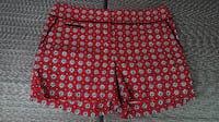 Vibrant Red Foulard Print Shorts by Loft OLATHE