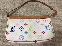 Authentic Louis Vuitton Pochette Multicolor White Burnaby