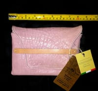 NWT! Handmade in Italy Purse Genuine Pink Leather! Toronto, M6G