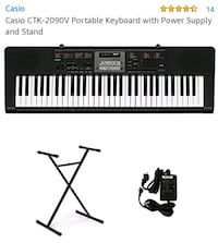 black and white electronic keyboard Cabot, 72023