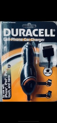 DURACELL CELL PHONE CAR CHARGER  *BNIP*