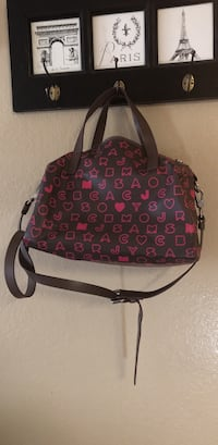Marc jacobs brown monogram purse