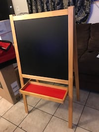 Deluxe standing art easel, white board and chalkboard Bellflower, 90706