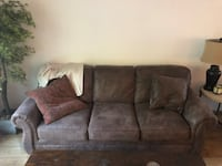 Used Brown Bomber Jacket Microfiber Sofa Must Sell For