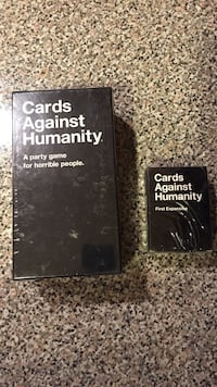 Cards Against Humanity game plus 1st expansion pack