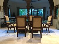 brown wooden dining table set Miami, 33133