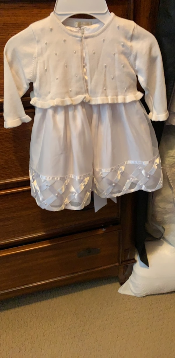 8bb0ae2de79 Used Girls (18 month) White Formal Dress with Cardigan for sale in Anaheim  - letgo
