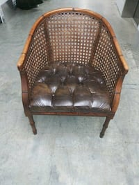 Beautiful leather and cane chair Snellville, 30078