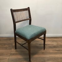 wooden frame padded chair