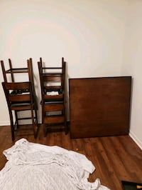 brown wooden bed frame with white mattress Greenville, 29605
