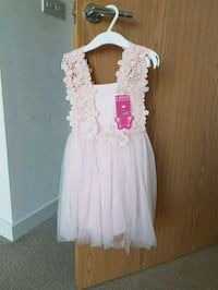 women's white and pink floral dress , BN2 8AB