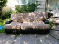 black and brown suede 3-seat sofa Springfield, 22153