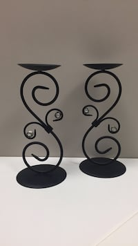 Black wrought iron candle holders Pickering, L1W 3V4