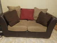 black and gray loveseat