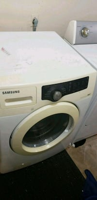white Samsung front-load clothes washer San Antonio, 78253