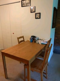 Ikea dining table+3 chairs