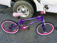 Girls purple and pink bicycle 57 km