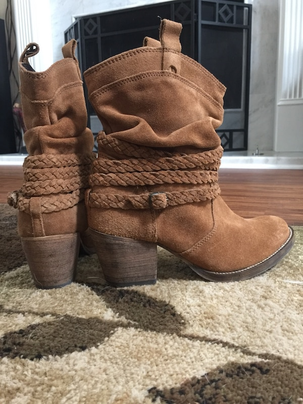 55ace1ae79b Dingo Twisted Sister Women's Slouch Western Ankle Boots suede and leather