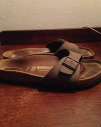 pair of brown leather sandals Toronto
