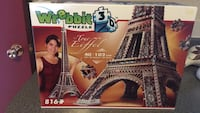Eiffel Tower 3d puzzle 1961 km