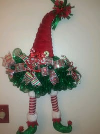 Christmas elf hat wall decor